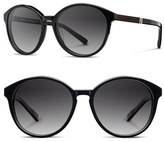 Shwood Women's 'Bailey' 53Mm Polarized Sunglasses - Black/ Ebony/ Grey Fade Polar