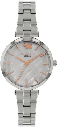 Radley Silver Mother of Pearl and Rose Gold Detail Dial Stainless Steel Bracelet Ladies Watch