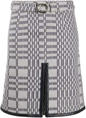 Victoria Victoria Beckham leather-trimmed A-line mini skirt