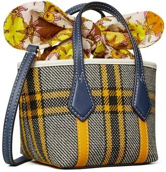 Tory Burch Perry Plaid Micro Tote Bag