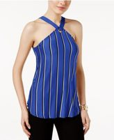Cable & Gauge Striped Grommet Halter Top
