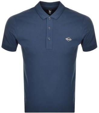 Replay Short Sleeved Logo Polo T Shirt Navy