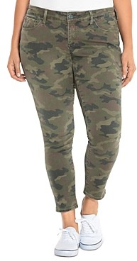 Slink Jeans Plus Skinny Jeans in Camo
