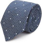 Reiss Kesher - Polka Dot Silk Tie in Blue, Mens