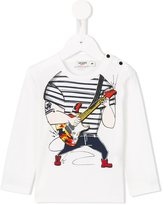 Junior Gaultier guitar player print T-shirt
