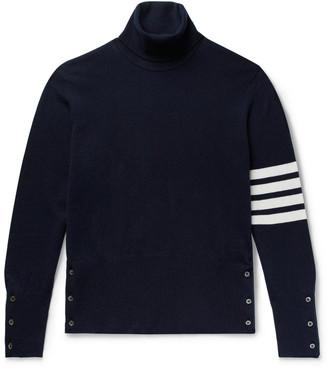 Thom Browne Slim-Fit Striped Cashmere Rollneck Sweater