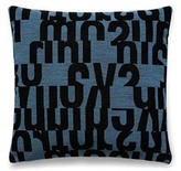 Letters In Aqua Pillow