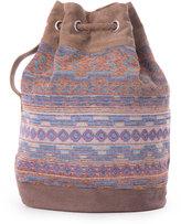 Toms Denim Ikat Mix Rebel Drawstring Bag