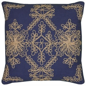 """Rizzy Home 18"""" x 18"""" Medallion Down Filled Pillow"""