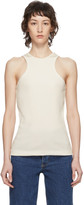 Gold Sign Off-White Rib Tank Top