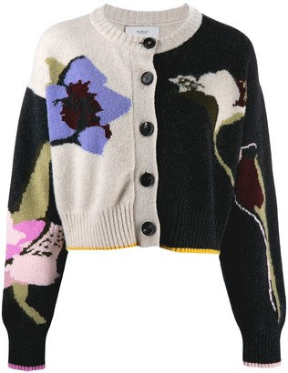 Pringle cropped floral pattern cardigan
