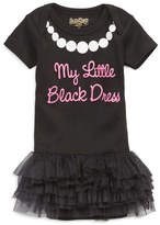 Infant Girl's Sara Kety Baby & Kids 'Black Dress' Tutu Bodysuit