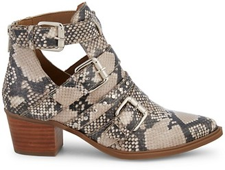 Steven by Steve Madden Dearly Snakeskin-Printed Leather Booties