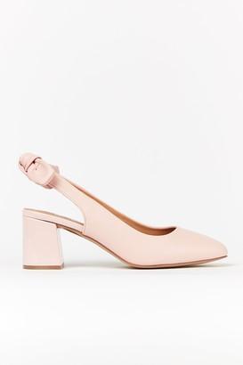 Wallis **WIDE FIT Pink Bow Slingback Heel