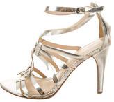 Vera Wang Metallic Cage Sandals