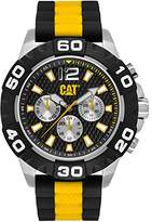 Caterpillar Cat Rider Men's Quartz Watch with Black Dial Analogue Display and Multicolour Rubber Strap PQ.149.27.132