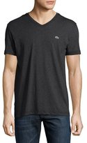Lacoste Pima Jersey V-Neck T-Shirt, Panther Black