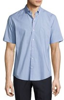 Zachary Prell Parker Abstract Short-Sleeve Shirt, Teal