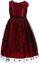 Jayne Copeland Big Girls 7-12 Dotted Bow Dress