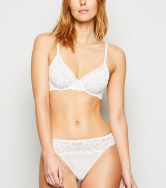 New Look Lace Bow Front Underwired Bra