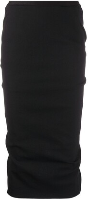 Rick Owens Pull-On Midi Skirt