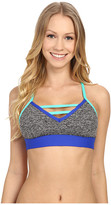 Pink Lotus Stony Corals Offset Sports Bra w/ Contrast Binding