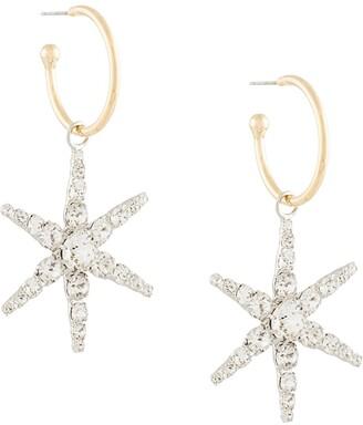 Jennifer Behr Crystal-Embellished Hoop Earrings