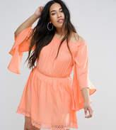 AX Paris Plus Flutter Sleeve Dress