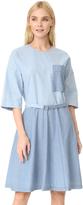 MAISON KITSUNÉ Chambray Jade Loose Cut Dress