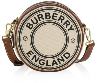 Burberry Louise Logo Cotton Circle Crossbody Bag
