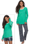 So Juniors' SO Pajamas: Knit Pants, Shorts & Top 3-Piece PJ Set
