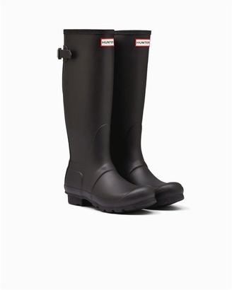 Hunter Women's Tall Adjustable Rain Boot Black - Size 10
