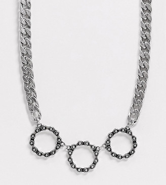 Reclaimed Vintage inspired chunky chain necklace in silver
