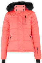 Topshop Sno Rio Hooded Faux Fur-trimmed Quilted Ski Jacket