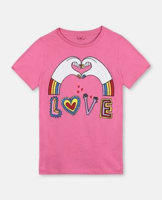Stella McCartney love hands cotton t-shirt