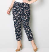 Avenue Floral Super Stretch Pull-On Ankle Pant in Navy