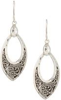 Lois Hill Sterling Silver Medium Granulated Petal Earrings