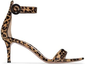 Gianvito Rossi Portofino 70mm leopard print sandals