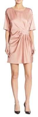 Moschino Silk Lace-Up Dress
