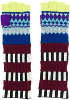 Burberry Fair Isle fingerless gloves