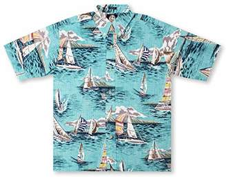 Reyn Spooner Men's Spooner Kloth A Following Sea Classic Fit Hawaiian Shirt