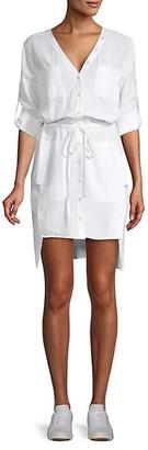 BCBGMAXAZRIA Daya High-Low Blouson Shirtdress