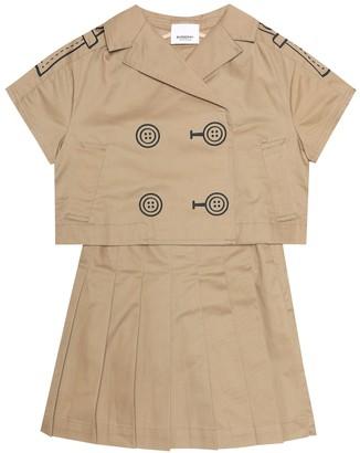 Burberry Cotton dress and jacket set