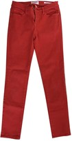 Frame Red Cotton - elasthane Jeans for Women