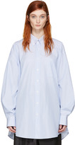 Maison Margiela Blue and White Oversized Shirt
