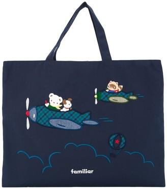 Familiar Fami embroidered tote bag