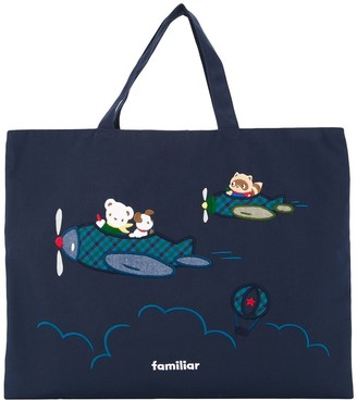 Familiar Fami embroidered tote bag