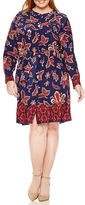 Liz Claiborne Long-Sleeve Shirt Dress - Plus