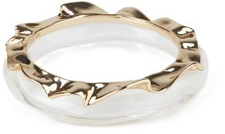 Alexis Bittar Crumpled Metal Bracelet Bangle Set