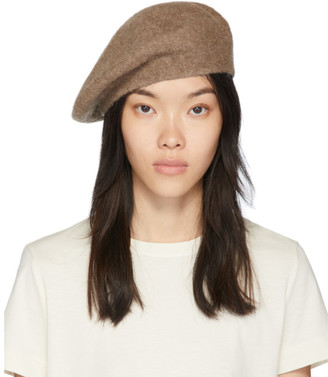 LAUREN MANOOGIAN Tan Horizontal Beret